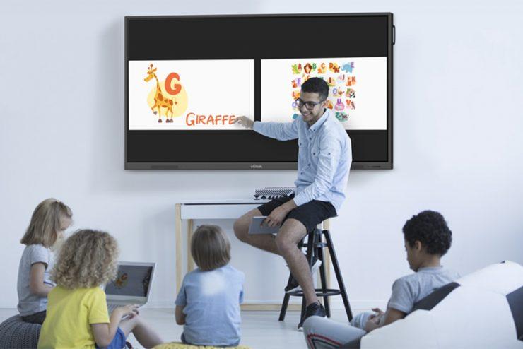 Avec la gamme EK, Vivitek propose trois grands tableaux blancs interactifs pour l'éducation
