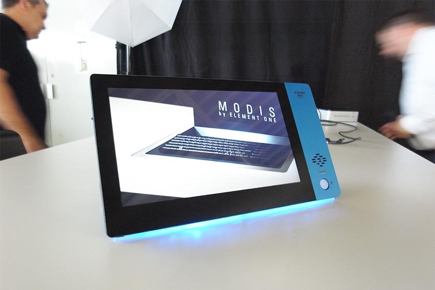 Les écrans de table personnalisables Element One Convis 125 pour les salles de réunion