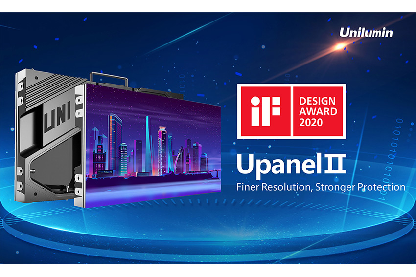 Les modules Unilumin UpanelII récompensés par le iF Design Award 2020