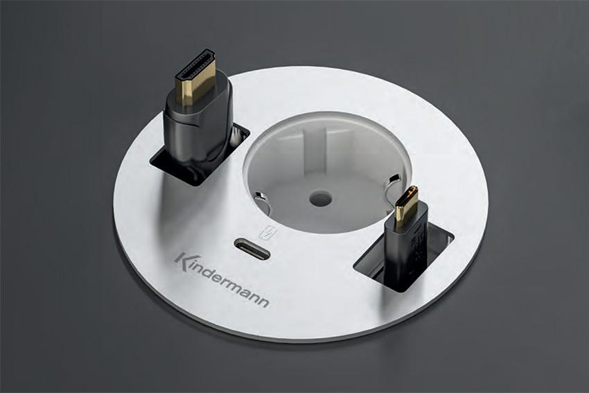 CablePort Table³ : de nouveaux boîtiers de connexion avec cordons déroulants
