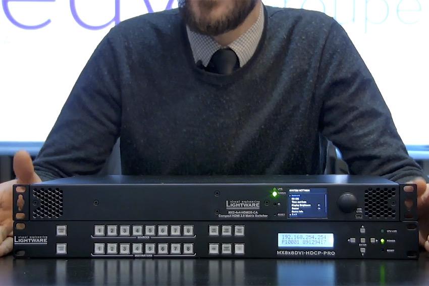 Nouvelle vidéo : les différences entre les nouvelle matrices Lightware MX2 et la série MX précédente