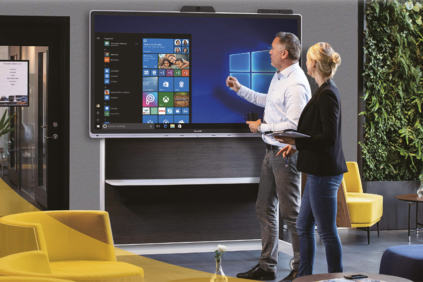Sharp Windows Collaboration Display : un écran tactile collaboratif hyper connecté