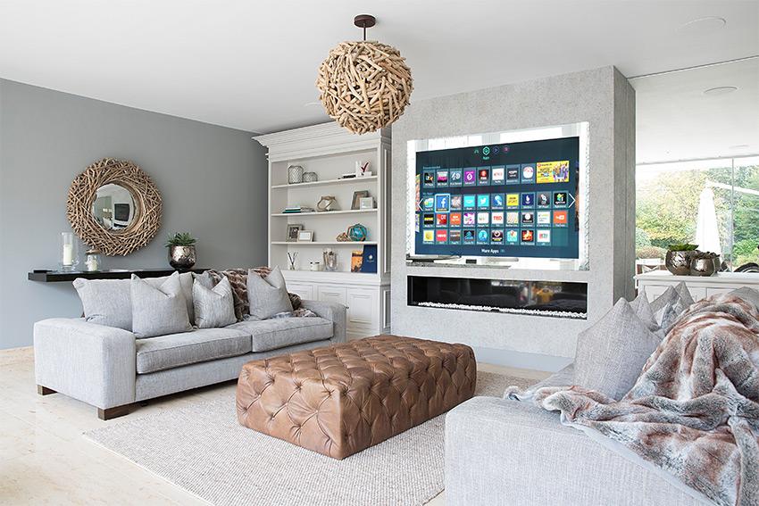 Les écrans Aquavision s'intègrent au décor et à la domotique