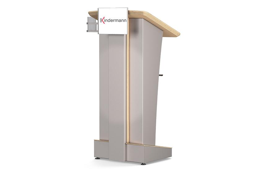 Kindermann Excalibur : un pupitre de conférence remarquable et ultra personnalisable