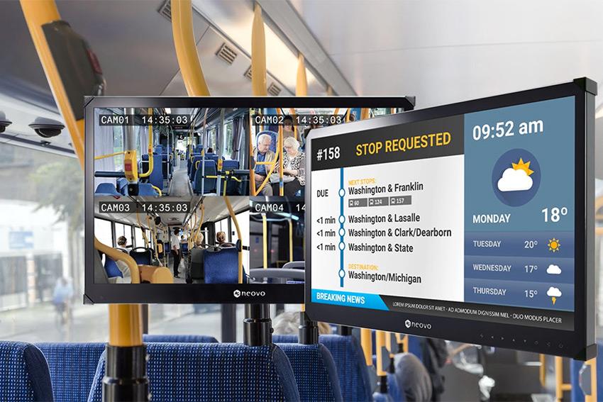 AG Neovo TBX : un moniteurs pour les transports en commun