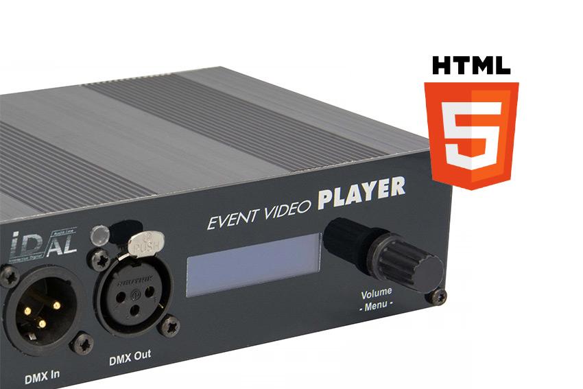 Les lecteurs vidéo & show control ID-AL sont enrichis d'un moteur HTML5 pour plus d'interactivité