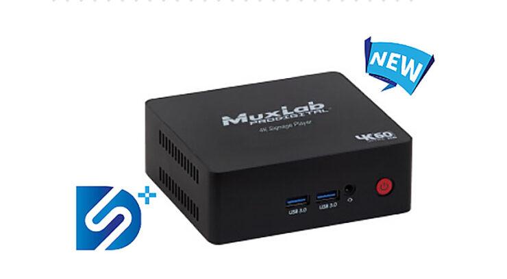 MuxLab lance une nouvelle version 4K de son player pour l'affichage dynamique, le MuxLab 500789