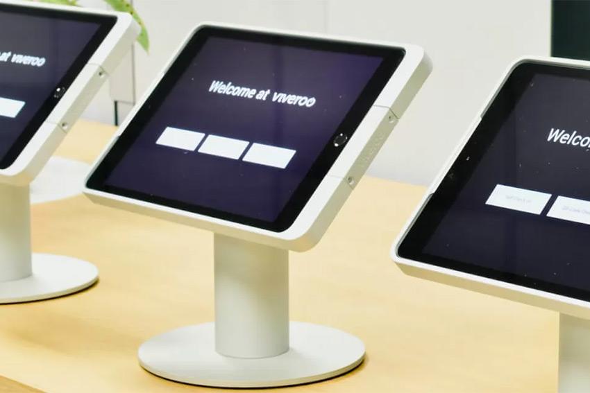Un nouveau kiosque iPad avec scanner intégré chez Viveroo