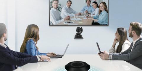 AVer VC540 : un ensemble caméra et micro de table sans fil pour de la visioconférence de haute qualité