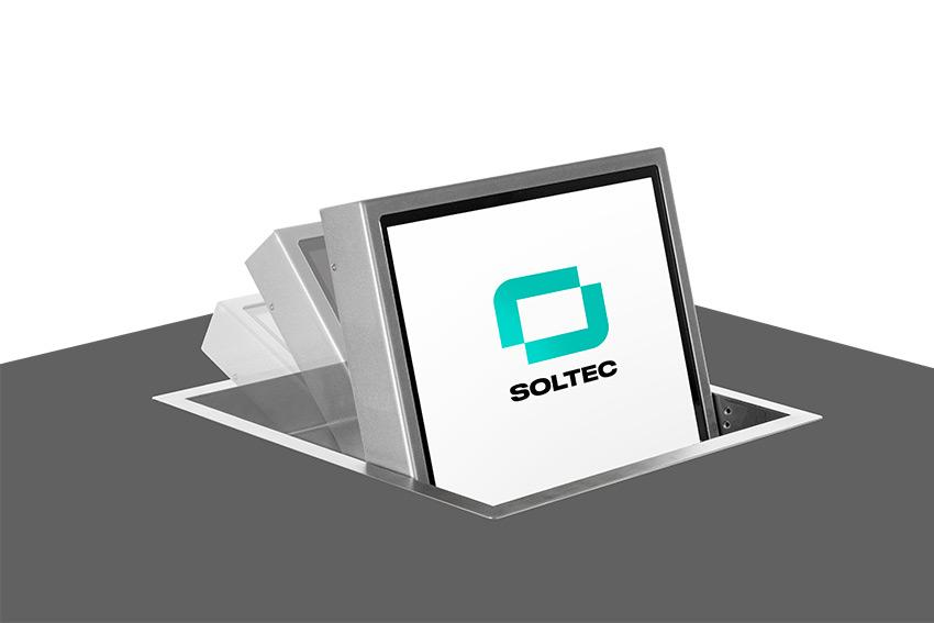 Soltec FOL M : une gamme de moniteurs encastrés orientables manuellement