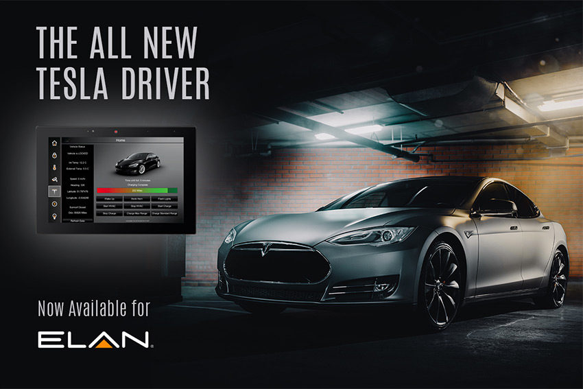 Contrôlez votre Tesla depuis les interfaces domotique Elan