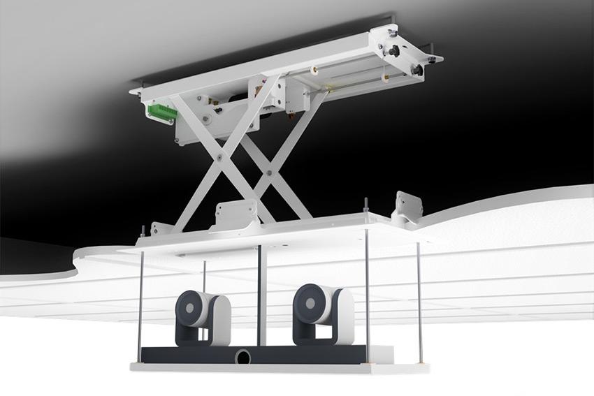 Audipack propose des ascenseurs pour caméras dans les salles de réunion et de conférence