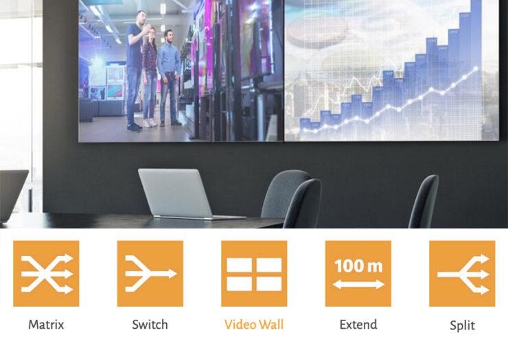 Les solutions Gefen sur IP pour la vidéo, l'audio et le contrôle sont entièrement matriçables via le réseau