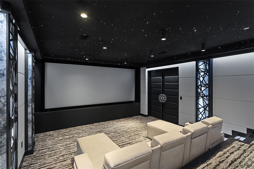 De l'audio/vidéo et de la domotique Elan pour un showroom exceptionnel