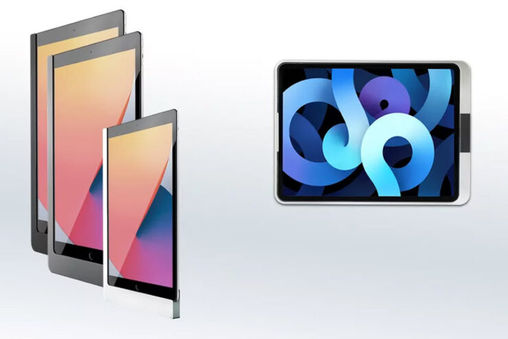 Un système de recharge encastré dédié aux supports muraux Viveroo pour iPad