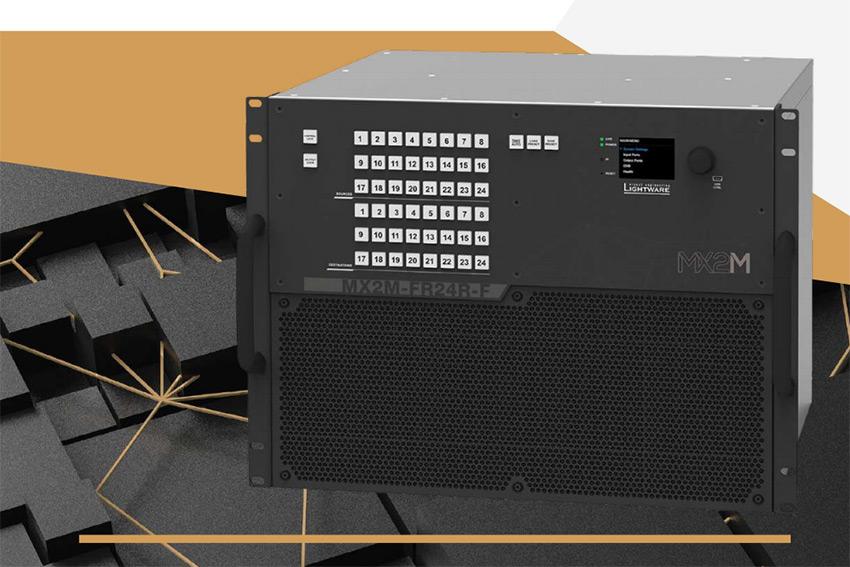 Les matrices modulaires Lightware MX2M-FR24R s'adaptent à tous vos besoins de distribution audio et vidéo