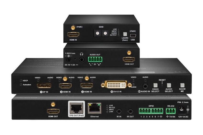 Lightware EDU-P1 : le bundle  comprenant un switch vidéo et un extracteur audio HDMI pour les grandes salles de conférence