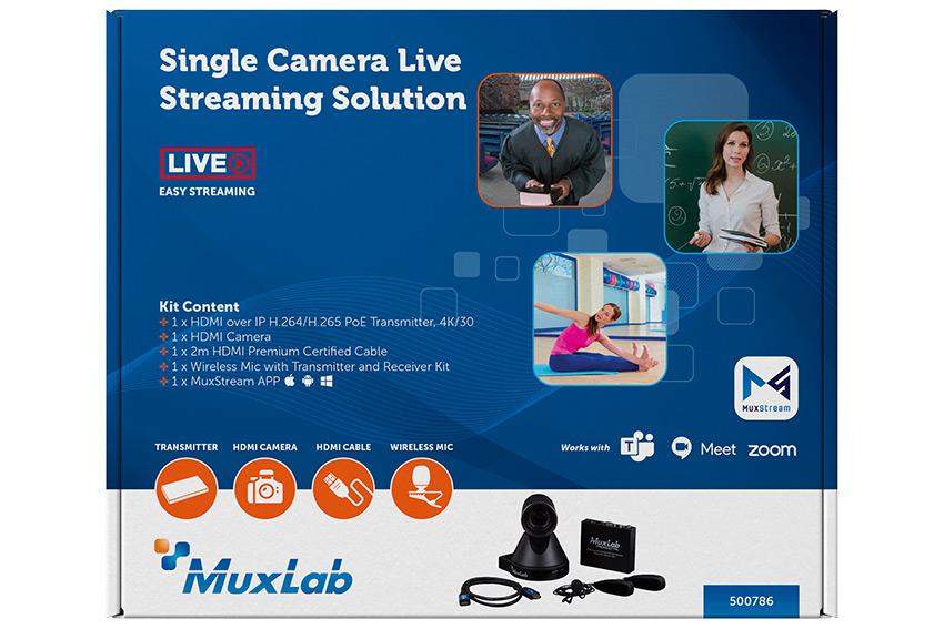 Le streaming live facile avec l'encodeur audio & vidéo sur IP MuxLab 500763-TX