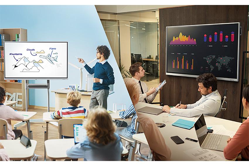 Vivitek Novotouch : trois nouveaux écrans interactifs tactiles pour l'éducation et les entreprises