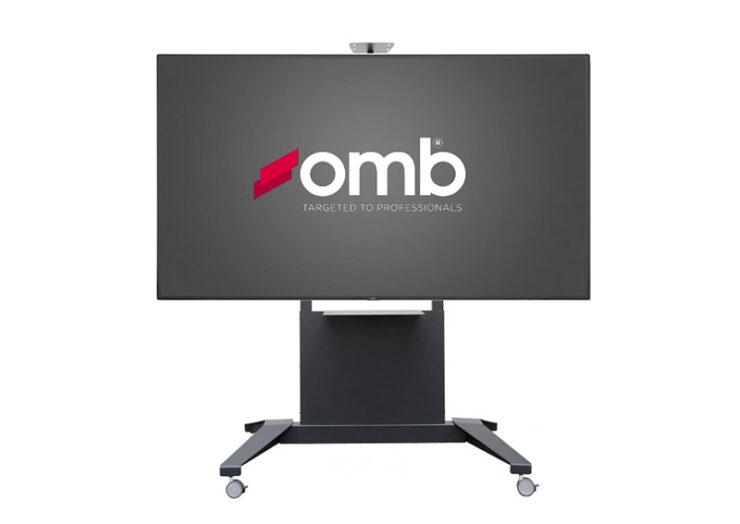 OMB Trolley XXL : un chariot grand format pour moniteurs jusqu'à 100