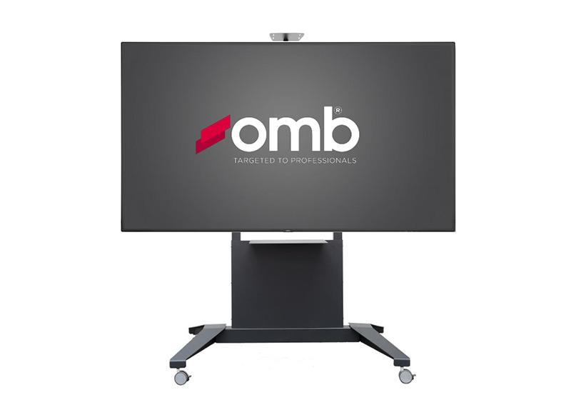 """OMB Trolley XXL : un chariot grand format pour moniteurs jusqu'à 100"""""""