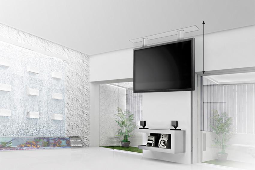 """Audipack FCL : des supports de plafond motorisés et invisibles pour écrans jusqu'à 65"""""""