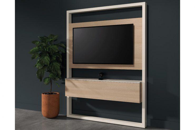Les meubles Kamo VisoPanel pour intégrer avec style les moniteurs dans les salles de réunion et de visio
