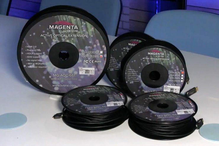 Des cordons optiques actifs 4K/8K pour toutes les installations avec tvONE Magenta