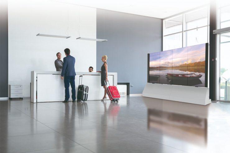 Installez votre mur d'images géant sur trolley grâce à Audipack