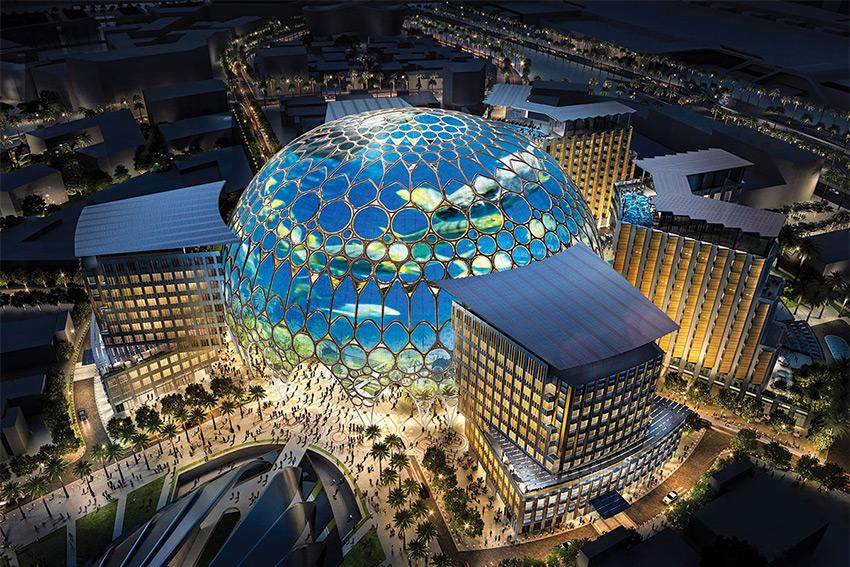 Un incroyable projection mapping constitué de 232 vidéoprojecteurs Christie laser RGB pour le Dubaï 2020 Expo