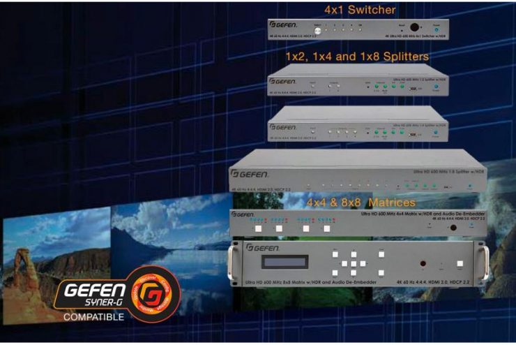 Avec Gefen, distribuez, sélectionnez, matricez et transportez tous les formats AV jusqu'à la 4K