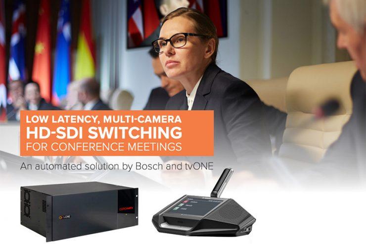 tvONE et Bosch s'associent pour les grandes salles de conférence