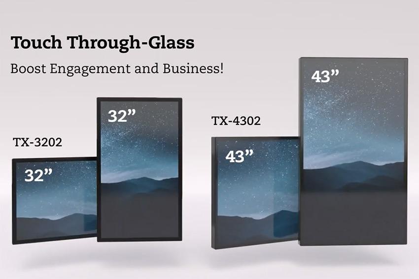 AG Neovo TX-3202 et TX-4302 : des écrans tactiles qui fonctionnent à travers une vitrine