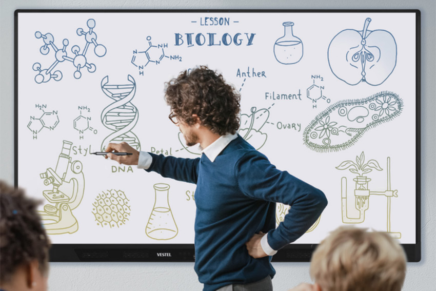 Découvrez toutes les solutions Vestel pour l'affichage dynamique et interactif en entreprise
