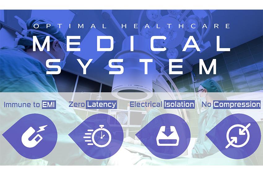 Des solutions optimales pour le milieu médical grâce aux transmissions AV optiques Opticis